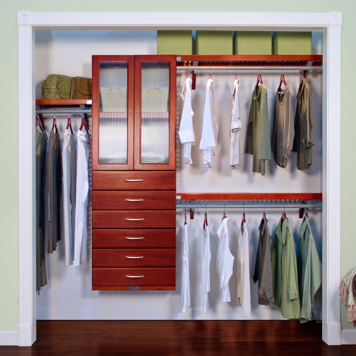 Premier Closet Organizer With 6 Drawers And Doors L John Louis Home