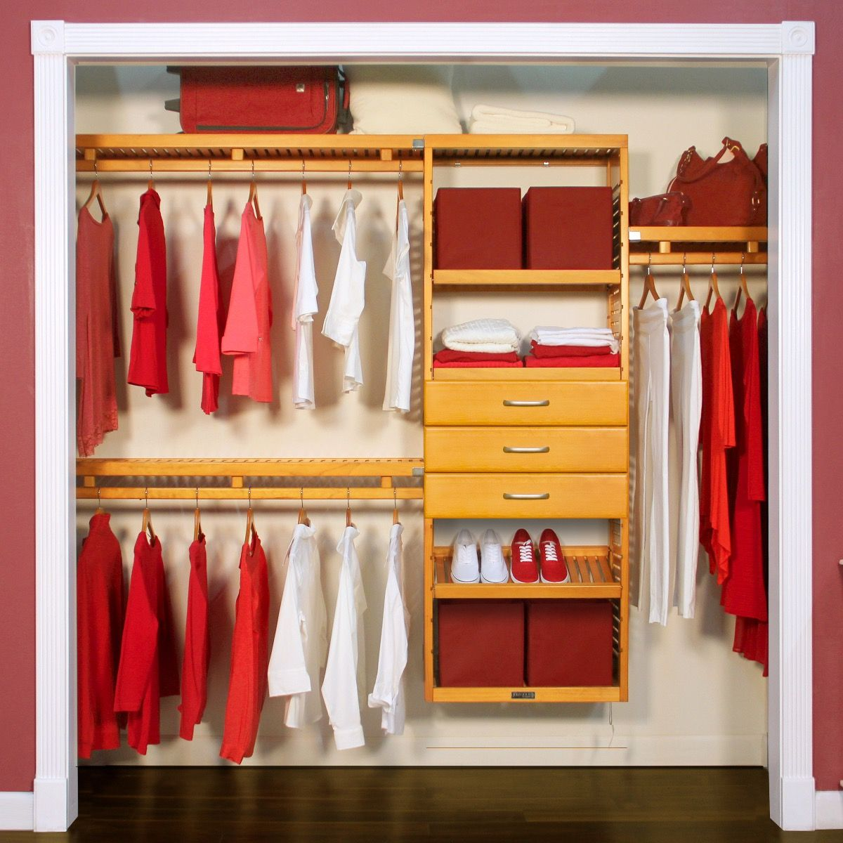 Simplicity Wood Closet Organizer With 3 Drawers 6in Deep L John Louis Home