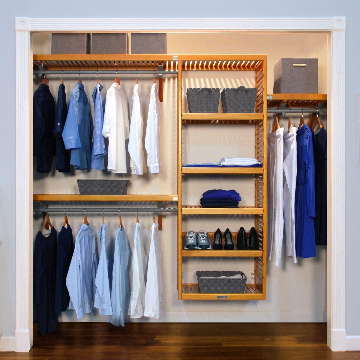 Closet Organizer Kit   16in. Deep Deluxe Wood Closet Organizer L John Louis  Home