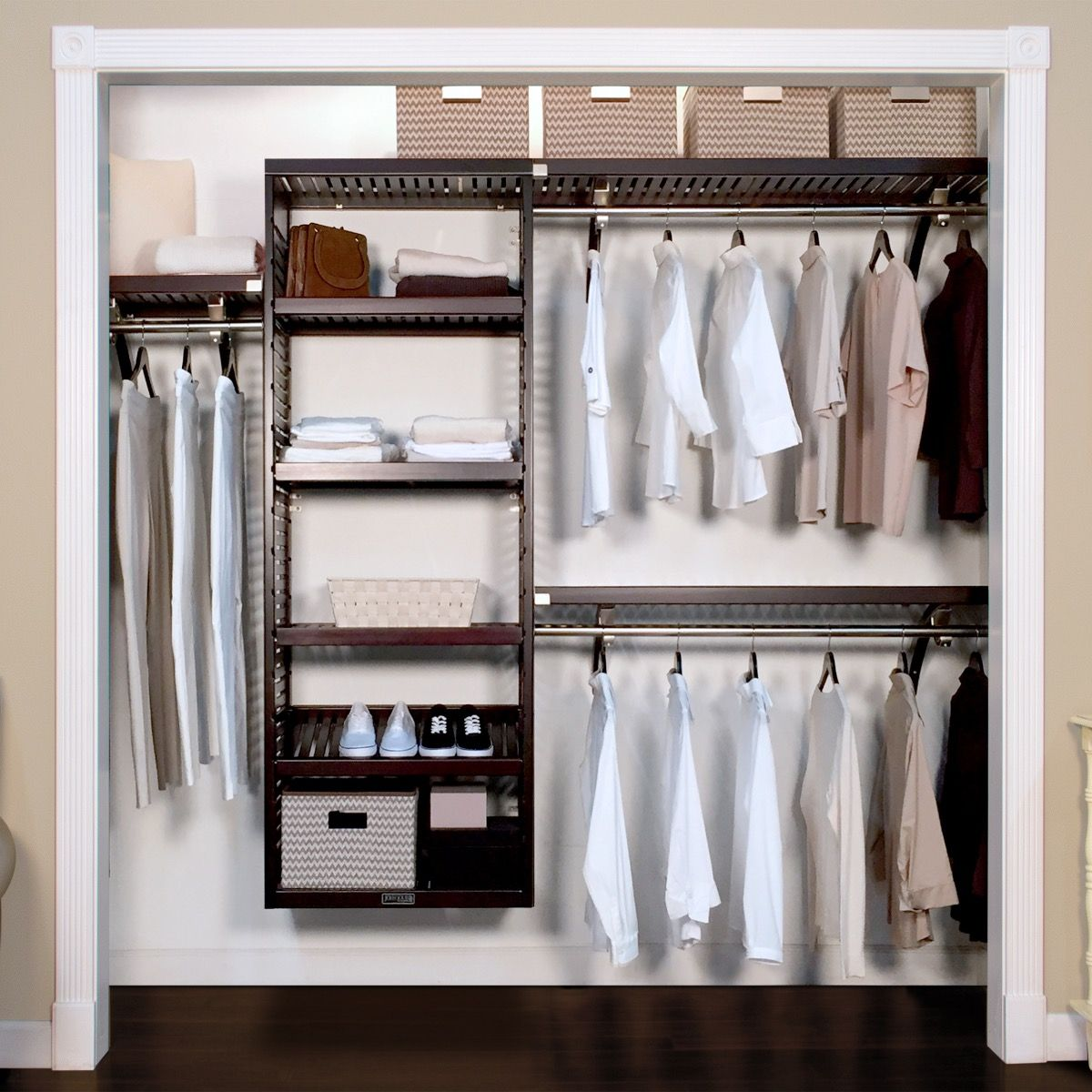 Exceptionnel Closet Organizer Kit   16in. Deep Deluxe Woodcrest Closet Organizer L John  Louis Home