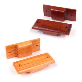 Wood Garment Bar Spacer - Qty: 3 Honey Maple Finish