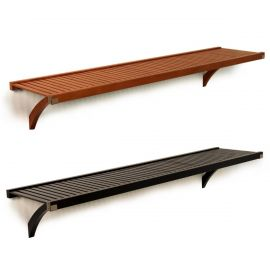 16in. Deep Woodcrest 6ft. Shelf kit Caramel finish