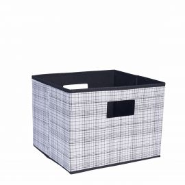 Small Brown Star Print Bin Main