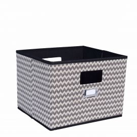Grey Plaid Print Cubby Main