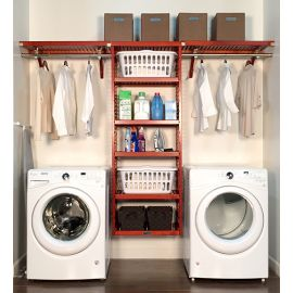16in. Deep Solid Wood 10ft. Laundry Organizer