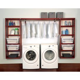 12in. Deep Solid Wood 10ft. PREMIUM Laundry Organizer