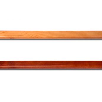 6ft. Wood Garment Bar Honey Maple Finish