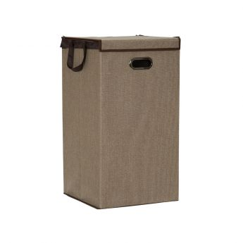 Collapsible Laundry Hamper w lid - Desert Sand