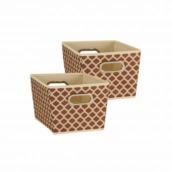 Small Olive Green Star Print Bin Main