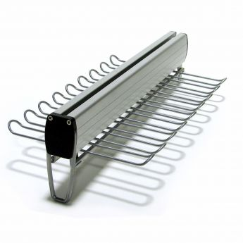 16in. Deep Under Shelf Mount Belt & Tie Rack