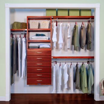 12in. Deep Premier Organizer with 6 Drawers honey maple main lifestyle configuration