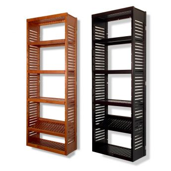 12in. Deep Woodcrest 6ft. Tower with Shelves