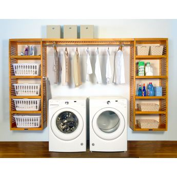 16in. Deep Solid Wood 10ft. PREMIUM Laundry Organizer