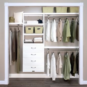 12in. Deep Woodcrest White Premier Organizer - 4 Drawers - 8in. Deep