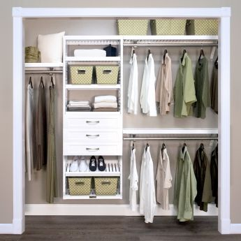 12in. Deep Woodcrest White Premier Organizer - 3 Drawers - 6in. Deep