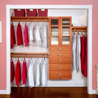 12in. Deep Woodcrest Simplicity Organizer 5 Drawers With Doors carmel main lifestyle configuration