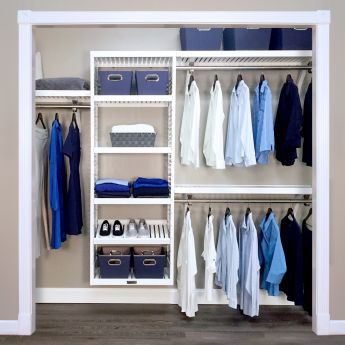 16in. Deep Woodcrest White Deluxe Organizer