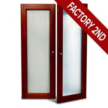 Fluted Glass Doors Red Mahogany Finish Main