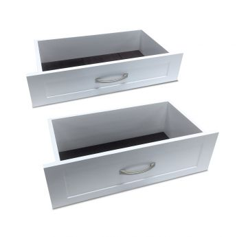 12in. x 8in. Woodcrest Drawer White finish