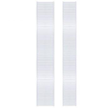 12in. Deep Woodcrest 8ft. Shelf Length White finish