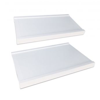 12 inch woodcrest white solid drawer top main image