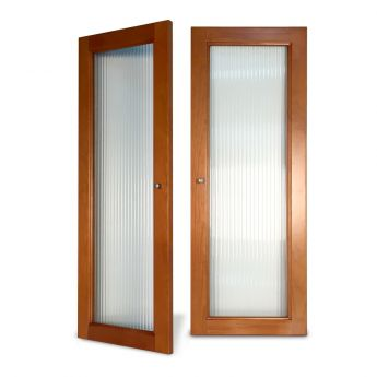 Woodcrest Fluted Glass Doors