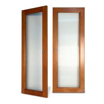 Woodcrest Fluted Glass Doors