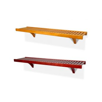 16in. Deep 6ft. Shelf kit Honey Maple or Red Mahogany finish