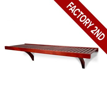 12in. Deep 4ft. Shelf kit Red Mahogany finish