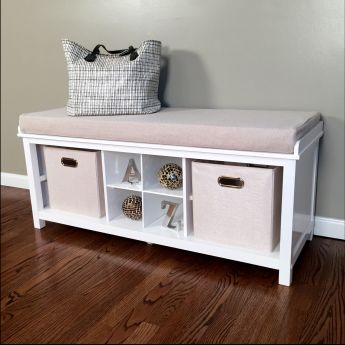 Entryway Bench with 2 Bins - 1 Shoe Divider