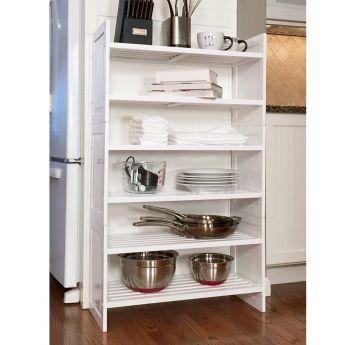 John Louis Home 3-Tier Red Mahogany Storage Rack lifestyle
