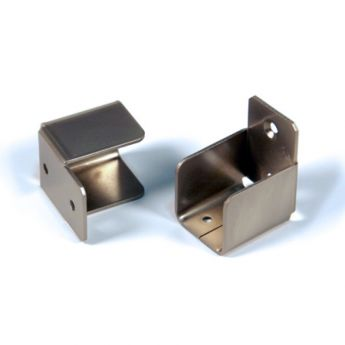 Shelf End Hardware Nickel Finish
