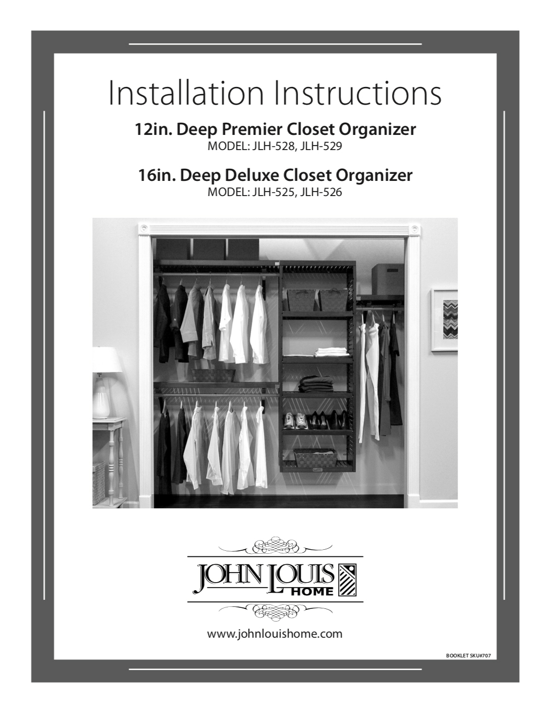 16in Deep Deluxe Closet Organizer With 5 Drawers L John Louis Home